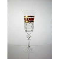 Replacement Champagne glass for Red Gold Collection.
