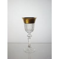Coffret de 6 verres à liqueur. Le Cristal et l'Or.