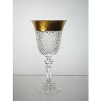 Coffret de 6 verres à vin. Le Cristal et l'Or.