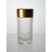 Coffret de 6 verres à eau. Le Cristal et l'Or.