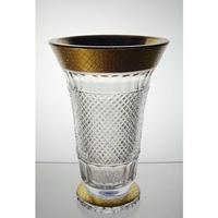 Vase en cristal 25cm. Le Cristal et l'Or.