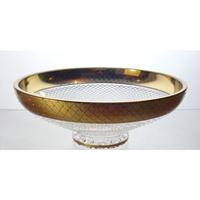 Coupe en cristal 25cm. Le Cristal et l'Or.