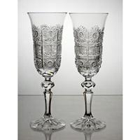 Coffret de 2 verres à Champagne. Collection Classique.