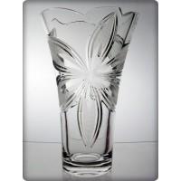 Vase en cristal 30cm. Orchidée décoration.