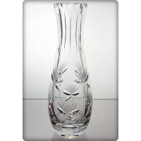 Vase en cristal 23cm. Décoration fleur.