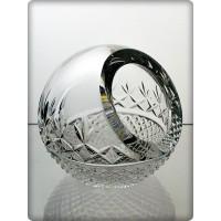 Cendrier en cristal 9cm. Décoration globe.