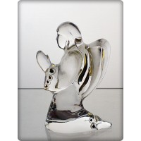 Figurine ange en cristal. Taille : 10cm.