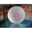 Balle de golf en cristal. Taille : 6,5cm.