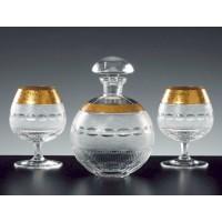 Moser Luxury Gold Brandy Set