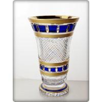Vase en cristal 25cm. Collection L'Or Bleu.