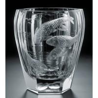 Moser Engraved Water Vase 20cm