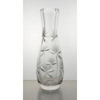Vase en cristal 18cm. Décoration fleur.