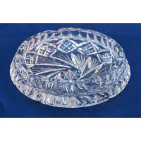 Crystal ashtray 13cm. Bohemia Crystal.