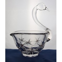 Swan crystal bowl.