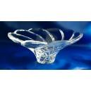 Crystal fruit bowl 20cm. Whirlpool decoration.
