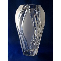 Vase en cristal 23cm. Décoration Nature.