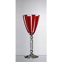 Remplacement d'un verre à vin rouge. Rayure Rouge.