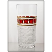 Box of 6 water glasses. Red Gold Collection.