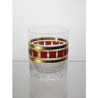 Box of 6 whisky glasses. Red Gold Collection.