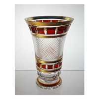 Vase en cristal 25cm. Collection L'Or Rouge.