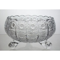 Crystal bowl on three legs 20cm. Classic Collection.