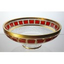 Coupe en cristal 25cm. L'Or Rouge.