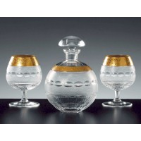 Moser Luxury Gold Brandy Set