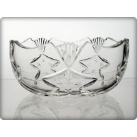 Crystal bowl 25.5cm. Nostalgy Collection.