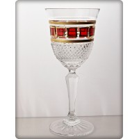 Box of 6 wine glasses - Richmond. Red Gold Collection.