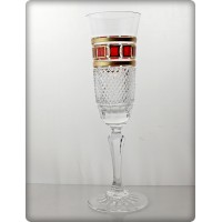 Box of 6 Champagne glasses - Richmond. Red Gold Collection.