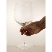 Large wine goblet in beautiful clear crystal