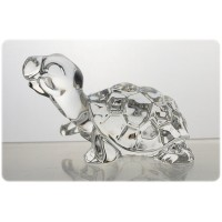 Turtle figurine in crystal. Size : 10cm.