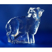 Figurine agneau  en cristal. Taille : 9cm. Collection Moser.