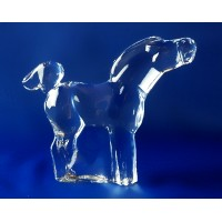 Horse figurine in crystal. Size : 10cm. Moser collection.